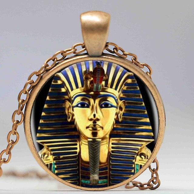 Online shop king tut logo pendant necklace tutankhamun golden king king tut logo pendant necklace tutankhamun golden king art handmade resin vintage necklace egyptian jewelry women gift aloadofball Gallery