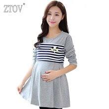 Ztov родам длинная беременности беременность блузка по футболки беременных весна топы