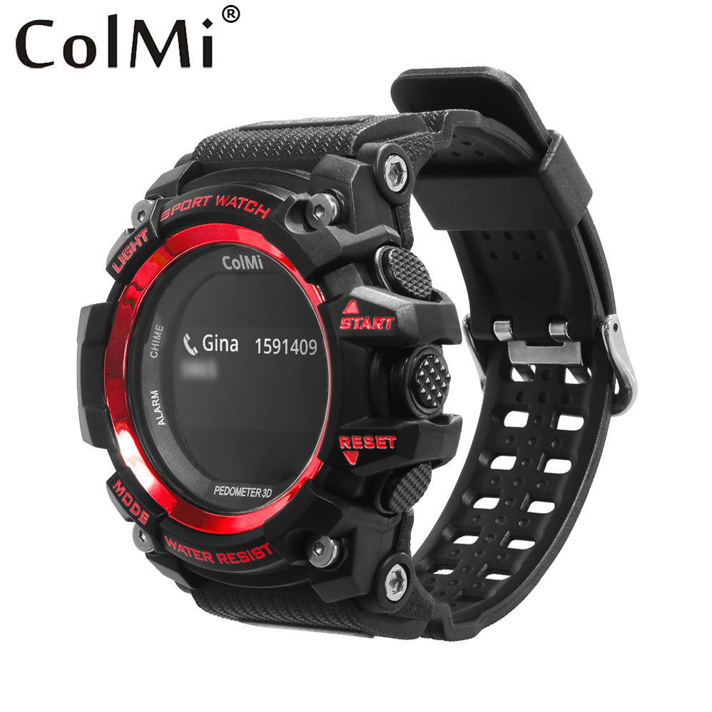 ColMi Smart Sport Watch T1 OLED Display Heart Rate Monitor IP68 Waterproof Push Message Call Reminder for Android IOS Phone new x7 smart watch with heart rate clock ultra long standby ip68 waterproof sports smartwatch message push for android ios phone