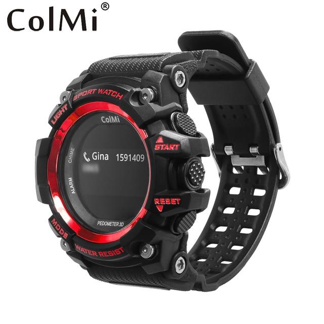 Colmi Смарт спортивные часы T1 OLED Дисплей сердечного ритма Мониторы IP68 Водонепроницаемый нажмите сообщение напоминание для Android и IOS Телефон