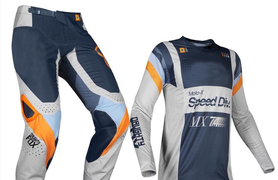 2019 vilain FOX MX 360 Murc MX gris clair ensemble de vitesse Motocross costume Dirt Bike Sport course Jersey pantalon Combo