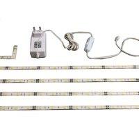ตู้ไฟRGB 5050 LEDแก้วแสงไฟคลิปที่มีแก้วขอบกลับคลิปแสงแถบอะแดป