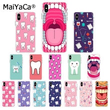 Maiyaca Nurse Doctor Dentist Stethoscope Tooth Injections Phone Case for iphone 11 pro 5Sx 6 7 7plus 8 8Plus X XS MAX XR(China)