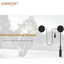 Zeepin мотоциклетные Шлемы-гарнитуры Беспроводной Bluetooth наушники ручной Бесплатная музыке Стерео Динамики наушников переговорные Интерком