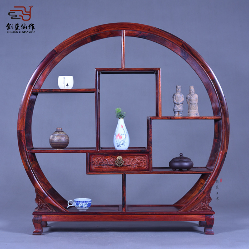 Rosewood Shelf Laos Rosewood Antique Curio Cabinet Frame Of The Utility Red Wood Furniture Decoration Craft Gifts