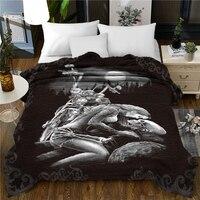 Super soft thick flannel blanket 3D Beauty Fashionable 150x200cm Fleece Throw Blanket gift Dropshipping Halloween skull kiss