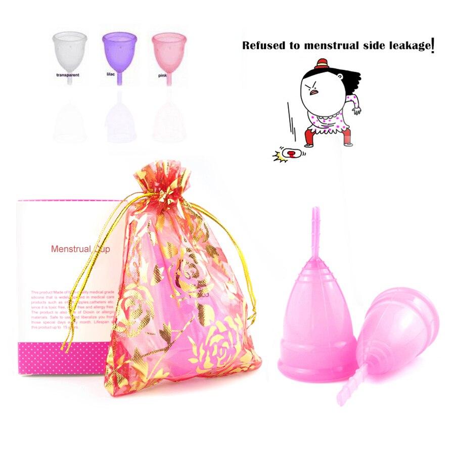 Reusable Menstrual Cup Medical Grade Silicone Lady Period Cup Alternative Tampons Sanita ...