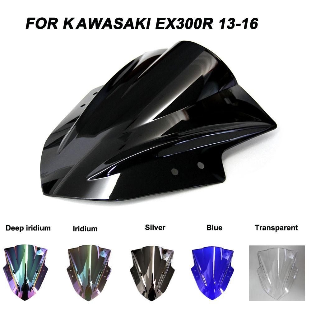 Windshield For Kawasaki NINJA 300 R EX300R EX 300R 2013-2016 Double Bubble Windscreen Wind Deflectors Motorcycle Motorbike