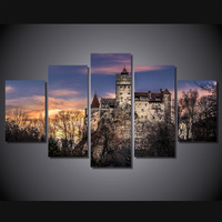 HD Printed Bran Castle in Romania Painting Canvas Print room decor print poster picture canvas Free shipping/ny-4518