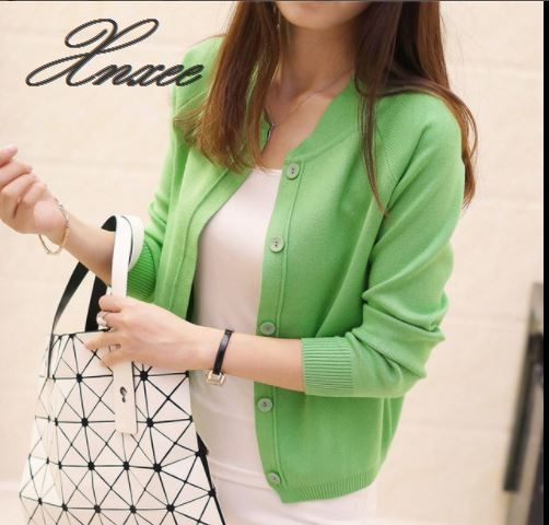 Xnxee Knitwear spring and summer new 2019 sweater short thin coat long sleeve in Cardigans from Women 39 s Clothing