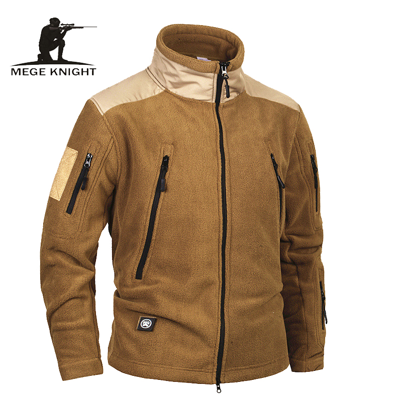 Mege Brand Clothing Tactical Army Military Clothing Fleece Men's Jacket and Coat, windproof Warm militar jacket coat for winter lurker shark skin soft shell v4 military tactical jacket men waterproof windproof warm coat camouflage hooded camo army clothing