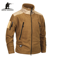 Mege Brand Clothing Tactical Army Military Clothing Fleece Mens Jacket and Coat, windproof Warm militar jacket coat for winter