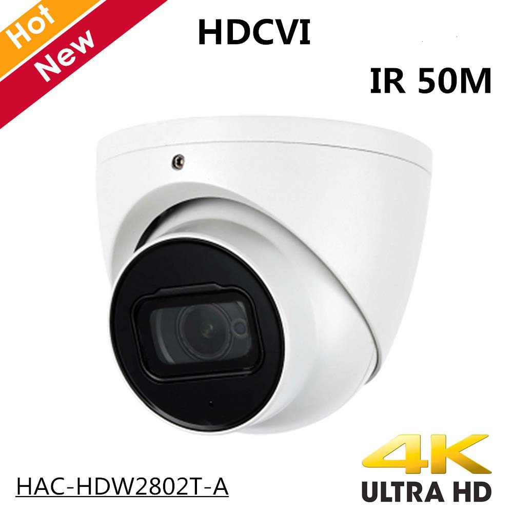 4 k DH En Plein Air Intérieur HDCVI Caméra HAC-HDW2802T-A 4 k Starlight HDCVI IR Coaxial CCTV Caméra 3.6mm objectif fixe IR 50 m IP67
