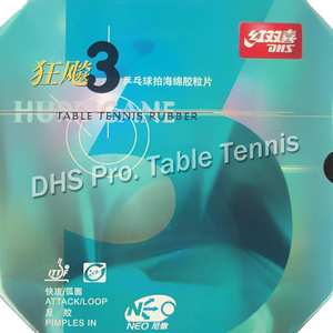 Pingpong Rubber Table-Tennis Hurricane3 Dhs Neo Pips-In with 3-Neo