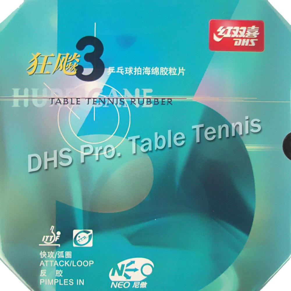 DHS NEO Hurricane 3 NEO Hurricane3 NEO Hurricane-3 Pips-In Table Tennis PingPong Rubber With Orange Sponge