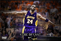 Decorative Kobe Bryant Posters LA Lakers Stickers Custom Canvas NBA Basketball Wallpaper Kids Wall Sticker Home