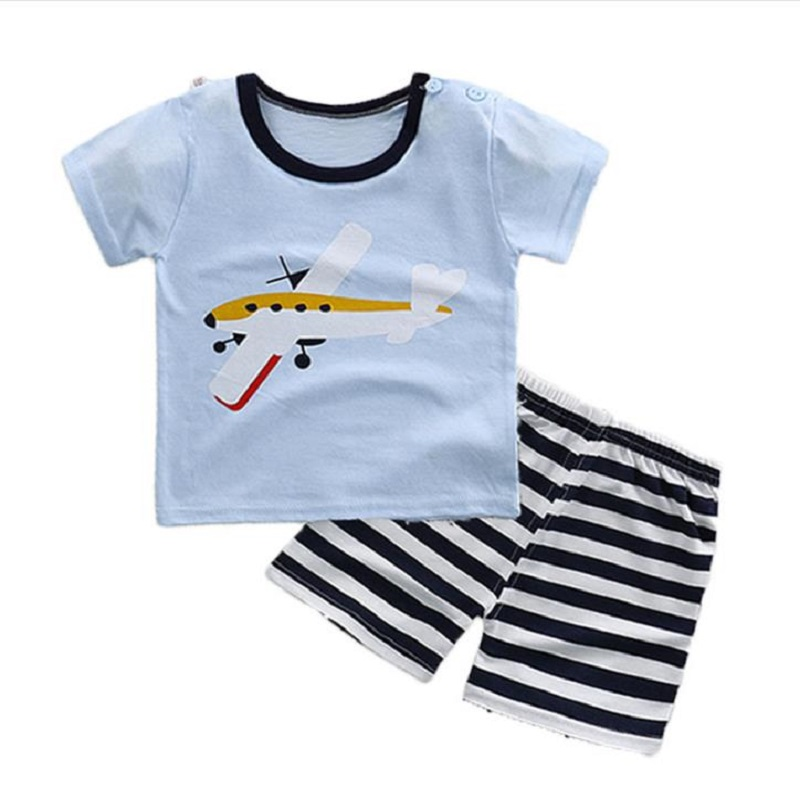 NICBUY 2018SI001 Hot Sale Boys Clothing Children Summer Boys Clothes Cartoon Kids Boy Clothing Set T-shit+Pants Cotton on sale boys clothing set kids sport cartoon cotton clothes suit boys clothes sweater pants 2pcs clothing set kids set