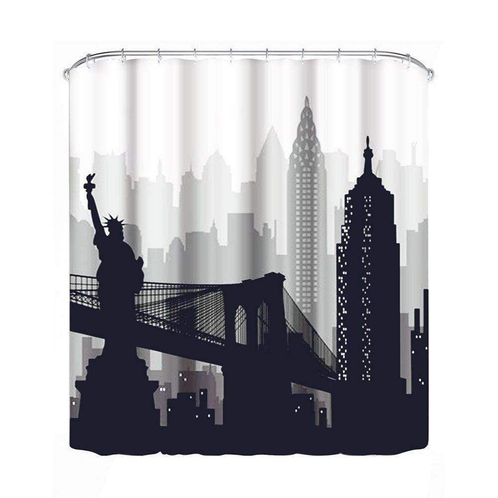 Waterproof Shower Curtain Bathroom Decorating Bath Curtain Home Decoration Large  Curtain For Bathroom SPA Divider (