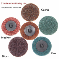 30pcs Sanding Discs 2 Roloc Roll Lock Surface Conditioning Fine Medium Coarse Sanding Pad