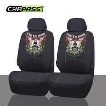 Car-pass Скорпион череп Дизайн Горячие сидений автомобиля сетчатая ткань авто внутреннее оформление украшения протектор Чехлы