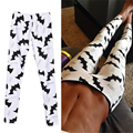 2017 Sexy Women Leggings White bat Legging Low Waist Fitness Trousers Fitness Legging Clothing