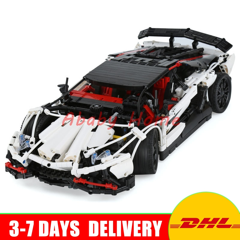 DHL Lepin 23006 MOC Technic Series The Super Racing Car Set MOC-3918 Building Blocks Bricks Educational Toys Boy Gifts Model lepin 21010 technic super racing car series the red truck set children educational toys building blocks bricks compatible 75913