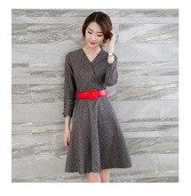 women dress  winter dress  Autumn and winter fashion new Korean long section woolen dress free shipping
