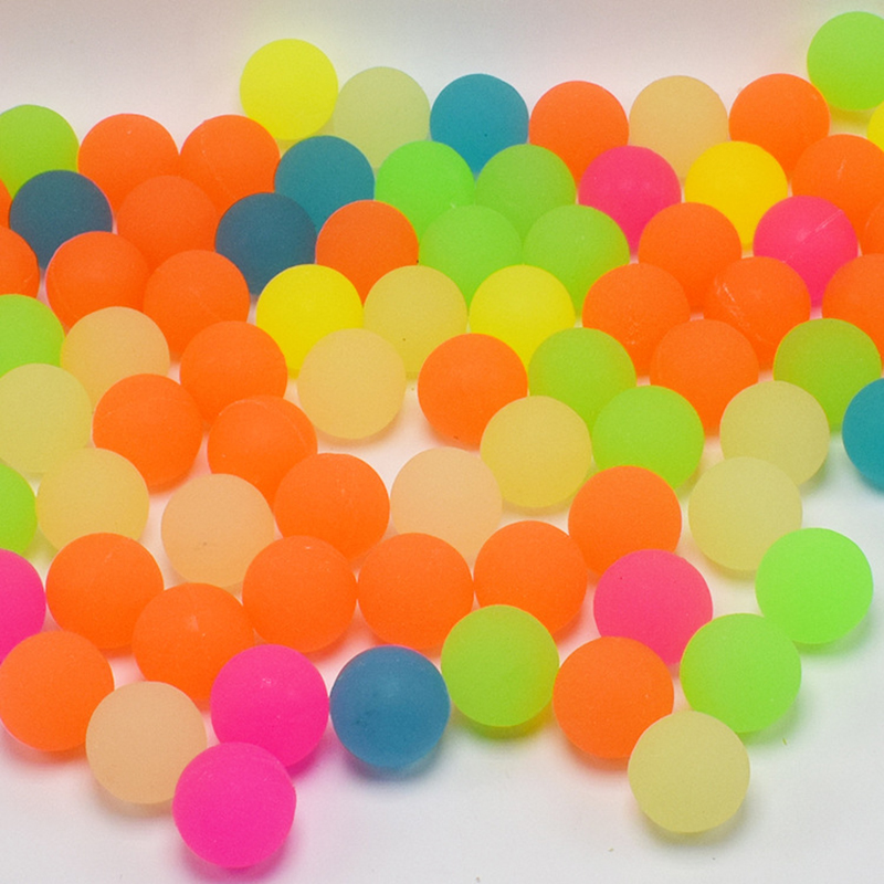 30mm Bouncy Ball Matter Surface Glow in the Dark Rubber Bouncing Balls 10pcs/lot Mix Colors Gashapon Machine Toy Ball for Kids