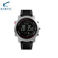 Leather smartwatch smart watches alarm clock pressure waterproof 50m outdoor activity adult watch hiking together with friends|Smart Wristbands|   -