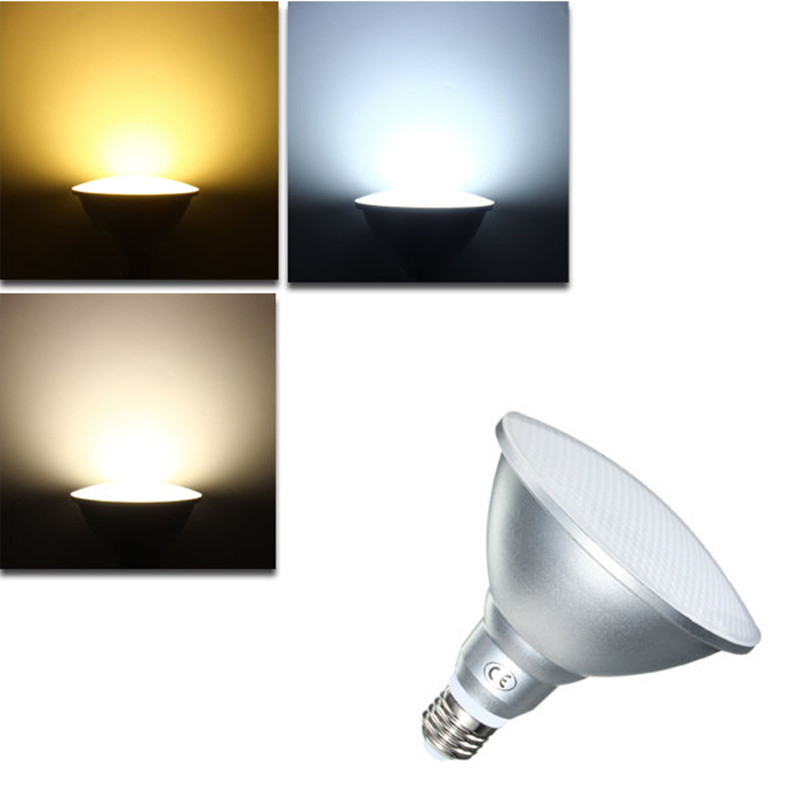 Led Spot Par20 Par30 Par38 9W 12W 18W Led Bulb E27 AC85-265V Dimmable Led Spotlight Lighting Warm/Natural/Cold White Waterproof free shipping 20w cob led light par38 e27 spotlight 90 100lm w par38 lamp dimmable led bulb warm cold white ac85v 265v 20pcs lot