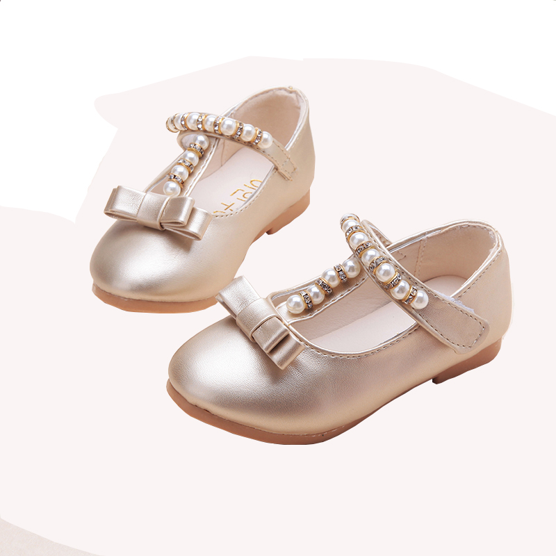 Beaded Kids Children`s Princess leather Sandals dance Wedding Dress Shoes Party Shoes for girls 1 2 3 4 5 6 7 8 years old
