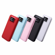 цена на 20000mah Power Bank Dual USB LCD Powerbank Portable Mobile phone Charger External Battery power-bank 20000 for Mobile Phones
