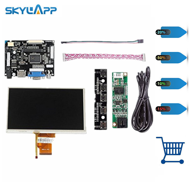 Skylarpu 7 LCD Display Touch Screen TFT Monitor AT070TN90 with HDMI VGA Input Driver Board Controller for Raspberry Pi skylarpu 7 raspberry pi lcd touch screen display tft monitor at070tn90 lcd display touchscreen kit hdmi vga input driver board
