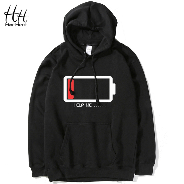HanHent 2016 New Brand Fashion Mens Hoodies Long Sleeve Pullover Hoodies Men clothes Hip Hop men Hooded Sweatshirt HO0700