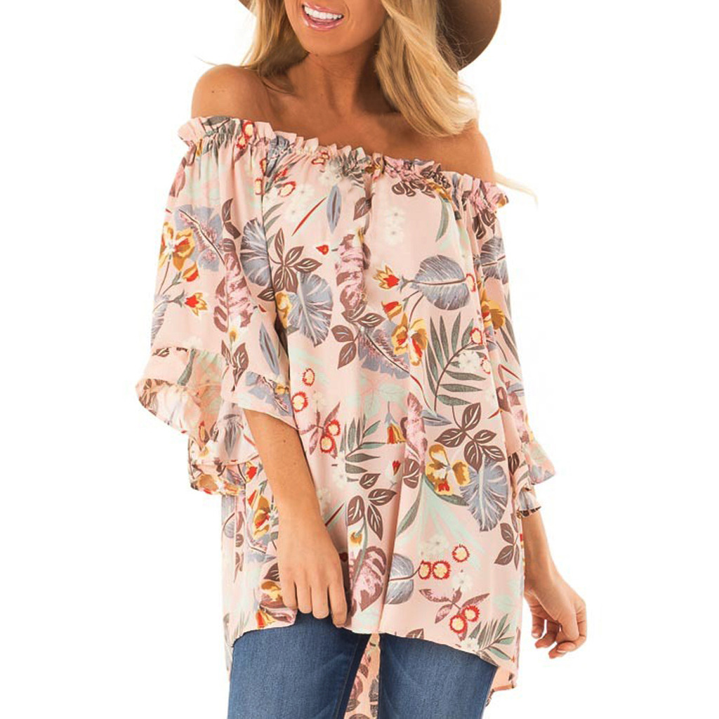 Womens Tops And Blouses Off Shoulder korean fashion
