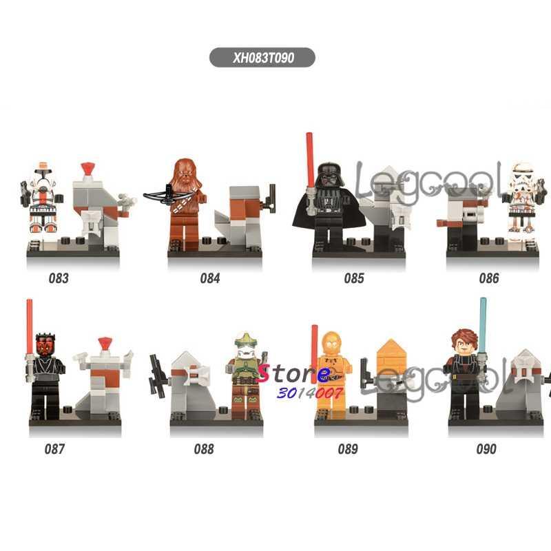 1 ADET model yapı taşları rakamlar star wars Cumhuriyeti Trooper Darth Vader Bounty Hunter C-3Po oyuncaklar çocuk hediye için