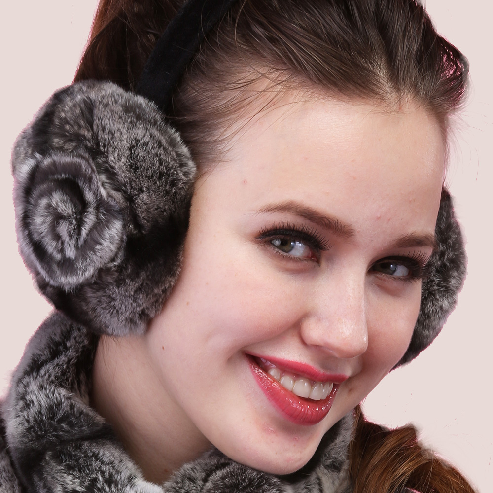 2017 fall winter lady women keep ear warm from snow lovely sexy fashion Female hot thermal winter earmuffs rose package ear