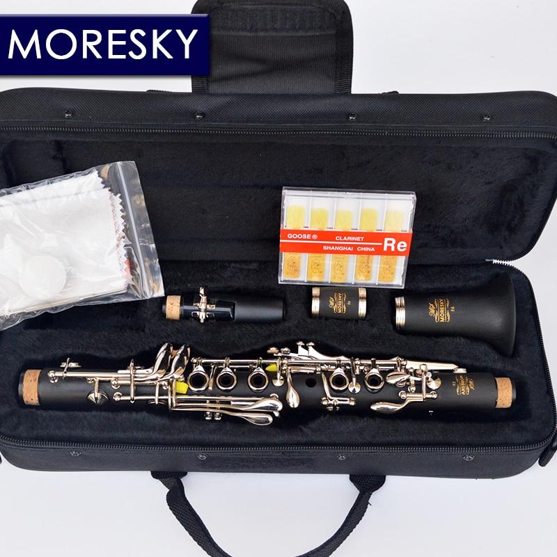 MORESKY кларнет Eb Тон кларнет сопрано жесткий резиновый материал корпуса eb