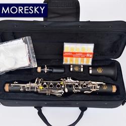 MORESKY Clarinet Eb tone soprano clarinet Hard Rubber Body Material