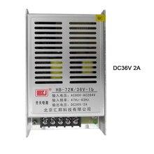 купить Free Shipping AC90V-264V Slim Switching transformator 72W DC 36V 2A Universal Regulated power supply for led strip light lamp по цене 771.15 рублей