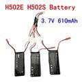 Frete grátis Hubsan X4 H502S H502E 7.4 V 15C 610 mAh Bateria Lipo com Três a um cabo Para H502S H502E zangão rc Peças bateria
