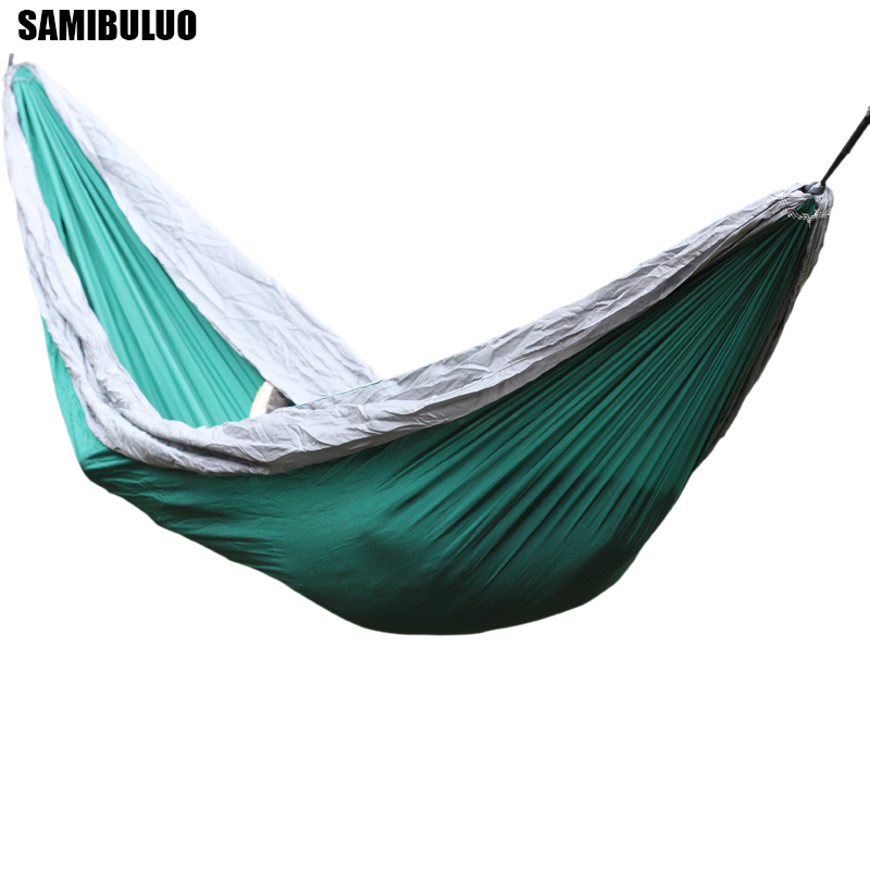 Hiking Camping Hammock Portable Nylon Hamac Hanging Outdoor Double Person Leisure 270*140cm