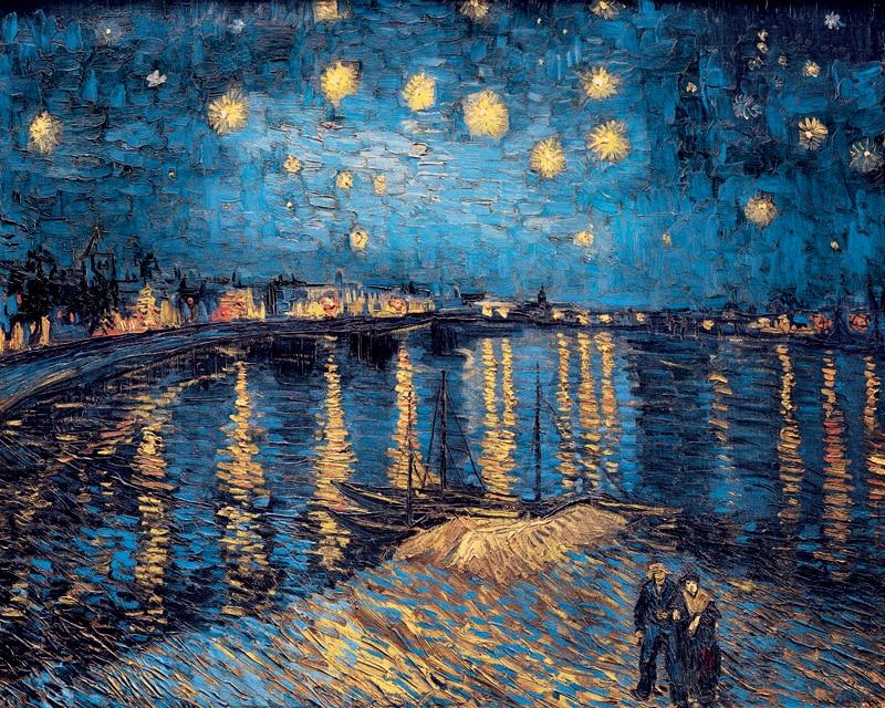 Impress o da lona impress o cen rio mural impress o for Starry night over the rhone hd