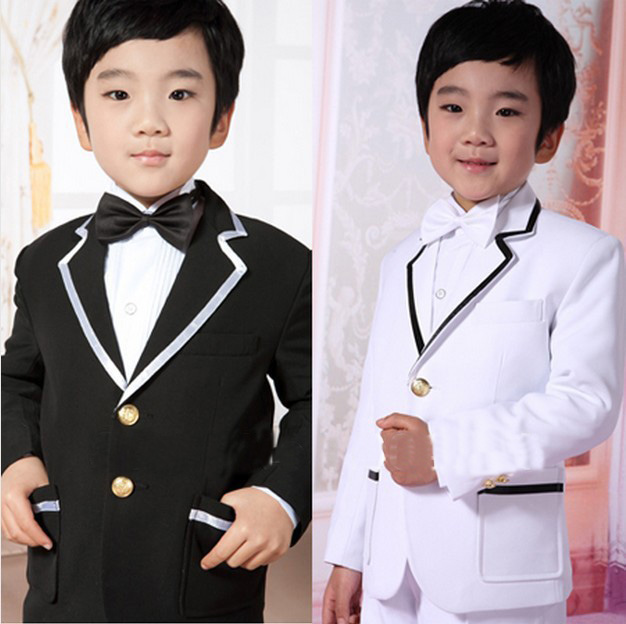 Boy's Suit/Free shipping/Top selling/Boys' Attire/Custom made cheap black white Special Occasion Clothes Kid tuxedos