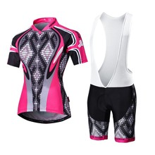2017 Malciklo High Quality Pro Fabric Women Cycling Bicycle MTB Jersey Wear Short Sleeve Set Ciclismo Roupa Bike Clothing M039