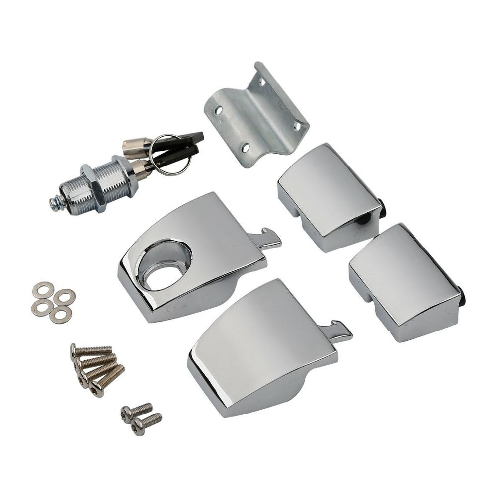 Motorcycle Chrome Tour Pak Latches For Harley Touring Road King Electra Street Glide 2006-2013 2012 King Tour Pack