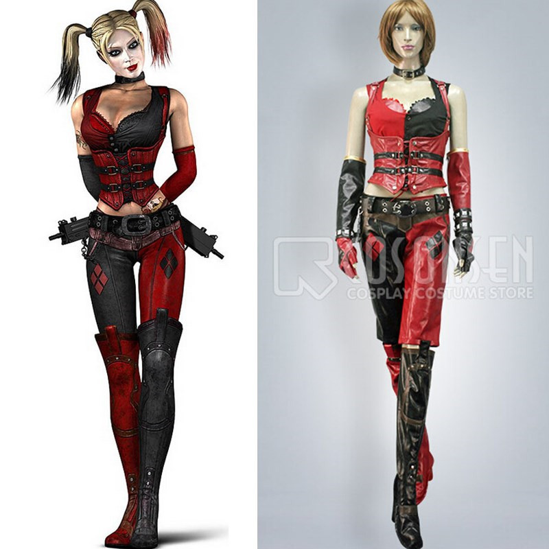Harley Quinn Arkham Costume Batman Cosplay Costume Tops Any Size Custom Made COSPLAYONSEN -in Anime Costumes from Novelty u0026 Special Use on Aliexpress.com ...  sc 1 st  AliExpress.com & Harley Quinn Arkham Costume Batman Cosplay Costume Tops Any Size ...