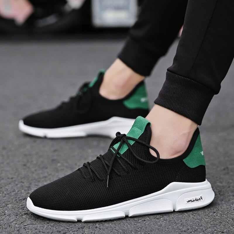 WENYUJH 2019 günlük erkek ayakkabısı yaz spor ayakkabı nefes rahat örgü ayakkabı Trend kore ayakkabısı erkekler ter emici