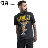 DHTEMA Men T-shirts 2017 Cotton Short Sleeve O-neck Solid Loose Basic T-shirt Casual Fitness Men T shirts
