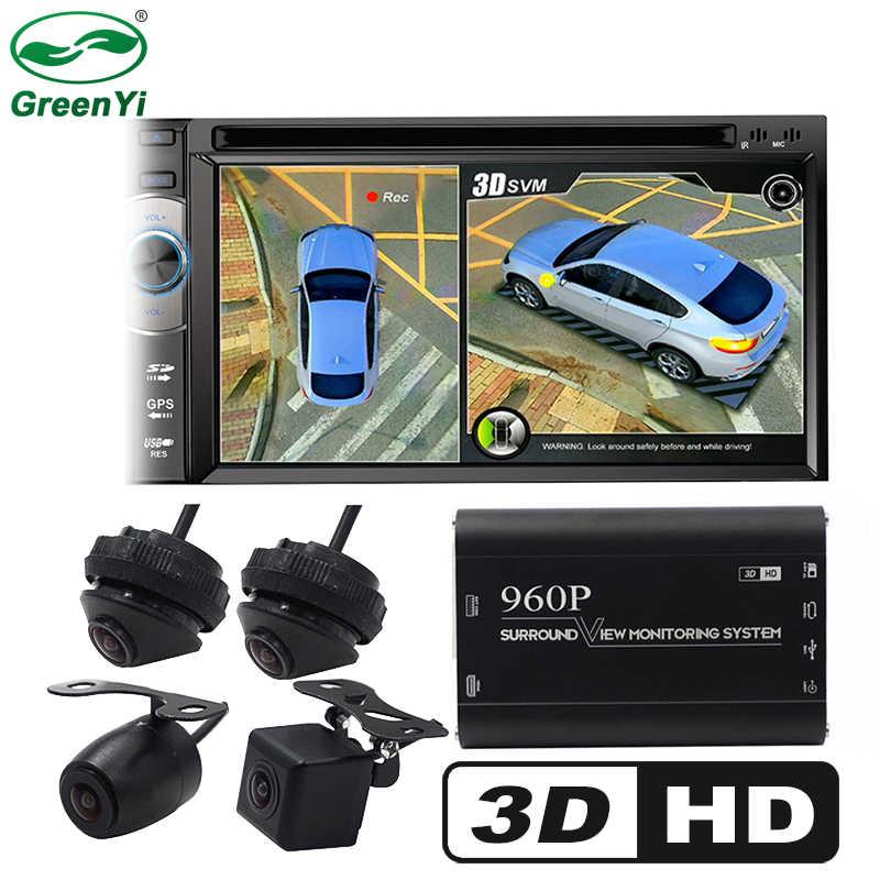 HD 3D 360 панорамный обзор, поддержка вождения, вид птицы, панорамная система DVR 4, автомобильная камера 960 P, Автомобильный видеорегистратор, видеорегистратор, коробка g-сенсор